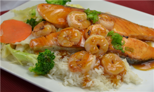 SALMON SHRIMP TERIYAKI 1