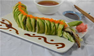 fusion green dragon roll
