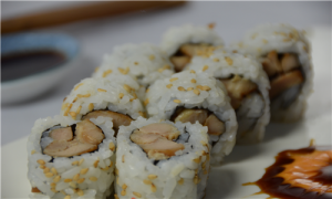 sushi chicken teriyaki roll